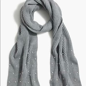 Brand New J.Crew pearl ribbed scarf